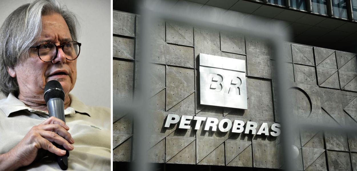 Paulo Moreira Leite e fachada da Petrobras