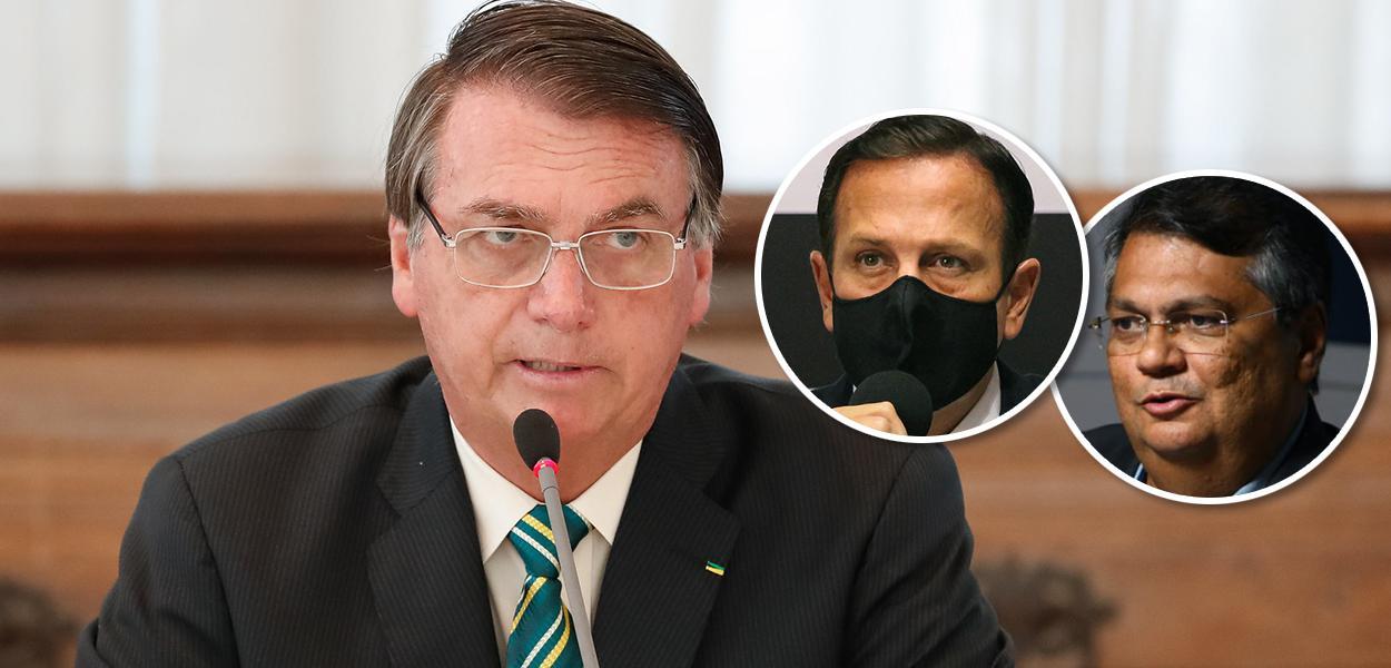Bolsonaro, João Doria e Flávio Dino