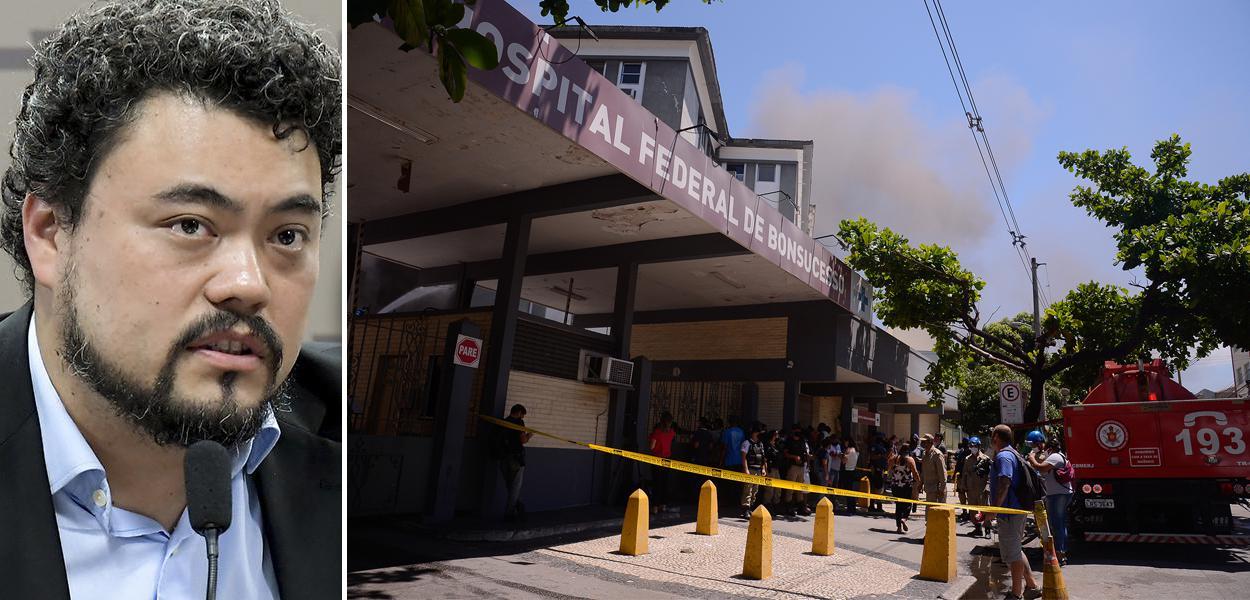 Sakamoto e incêndio no hospital de Bonsucesso