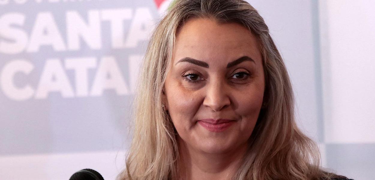 Governadora Daniela Reinehr, na primeira reunião com secretários em Santa Catarina. 27 de outubro de 2020