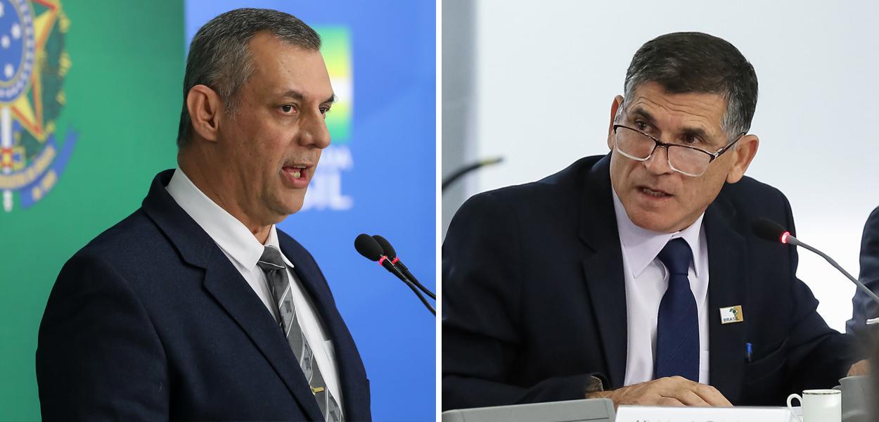 Otávio Rêgo Barros e Carlos Alberto dos Santos Cruz