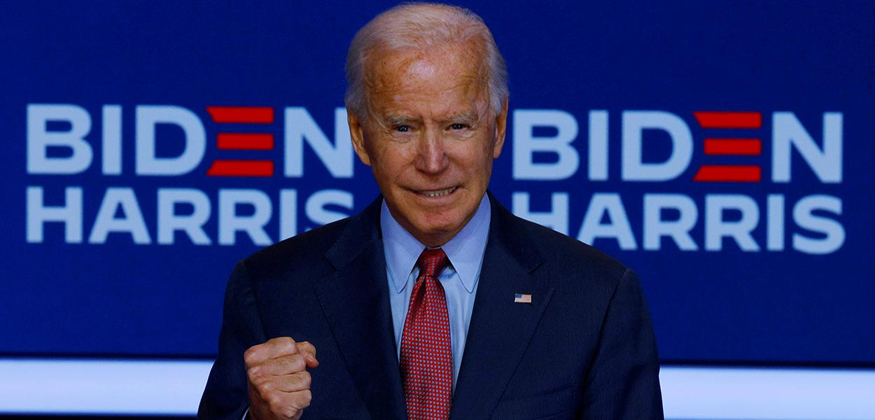 Joe Biden discursa em Wilmington, no Estado norte-americano de Delaware. 28/10/2020