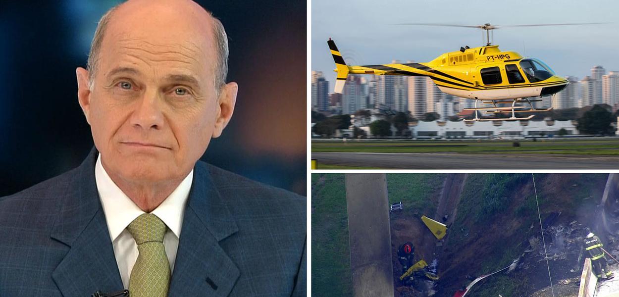 Jornalista Ricardo Boechat foi vítima de acidente de helicóptero em fevereiro do ano passado