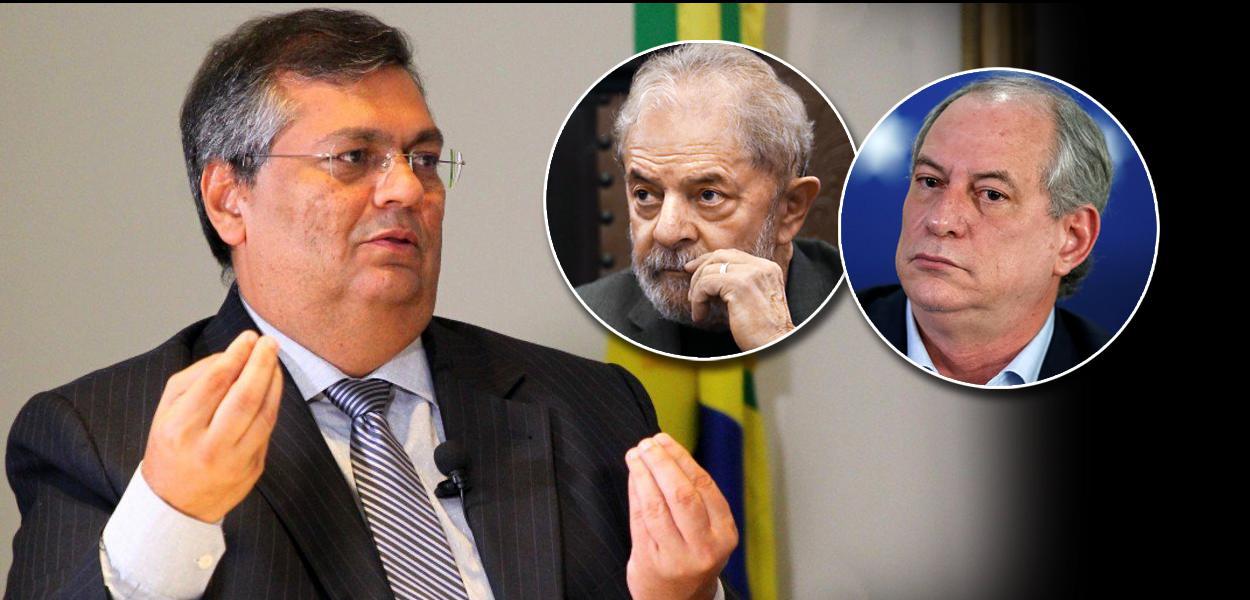 Flávio Dino, Lula e Ciro Gomes