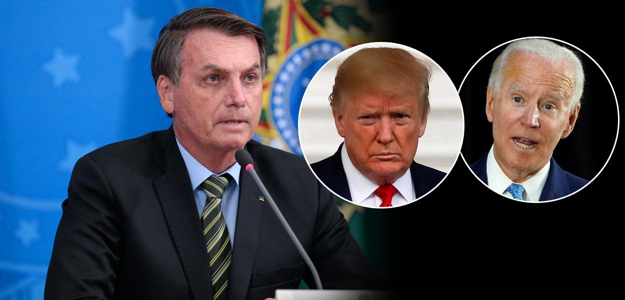 Jair Bolsonaro, Donald Trump e Joe Biden