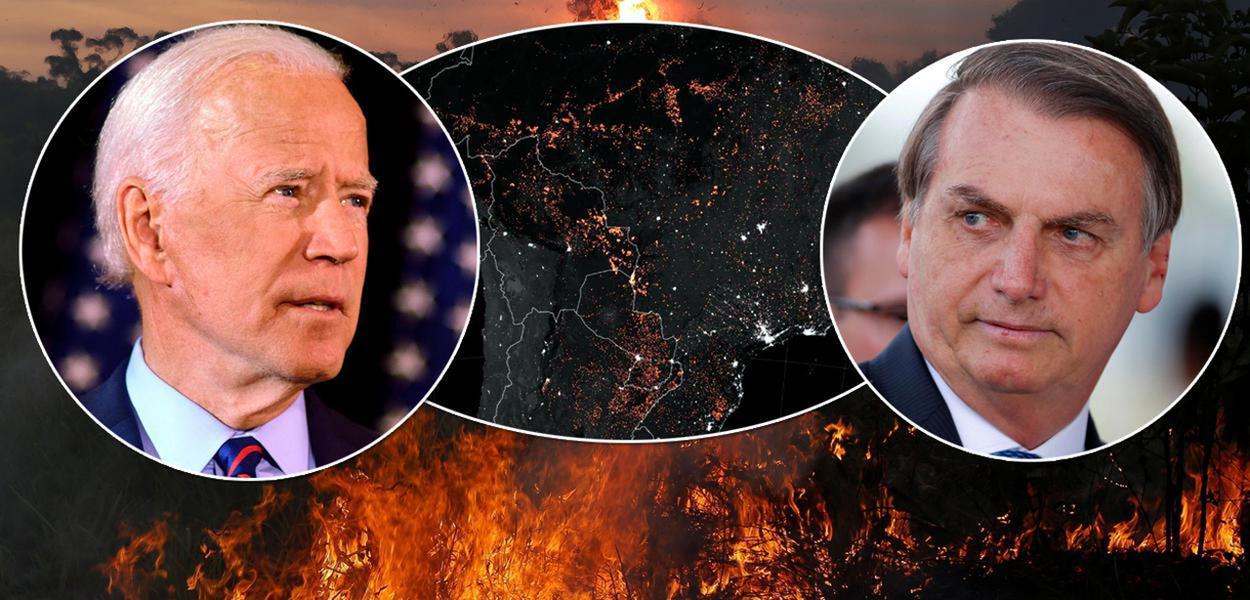 Joe Biden e Jair Bolsonaro