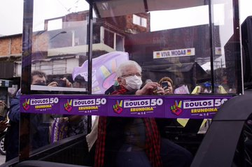 Luiza Erundina durante campanha em SP
