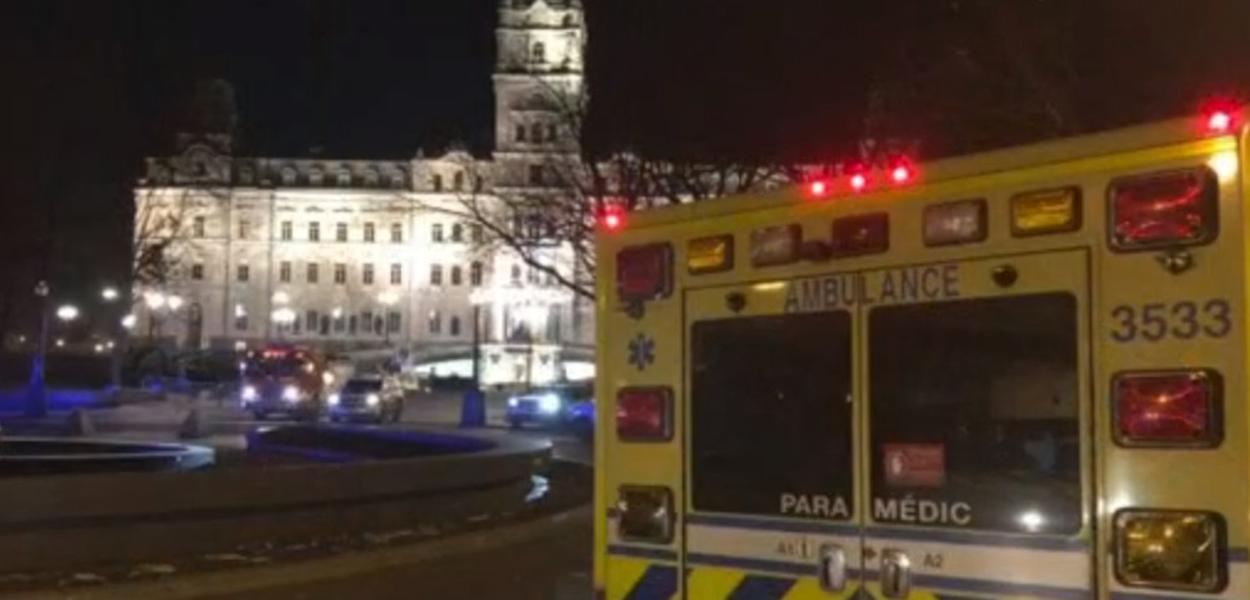 Local onde o ataque ocorreu em Québec, foi isolado