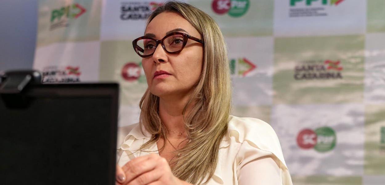 Daniela Reinehr, governadora interina de Santa Catarina