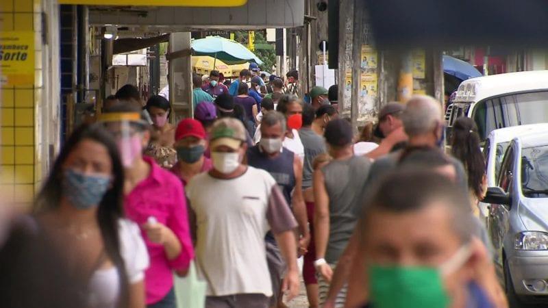 Aglomeração no centro do Recife