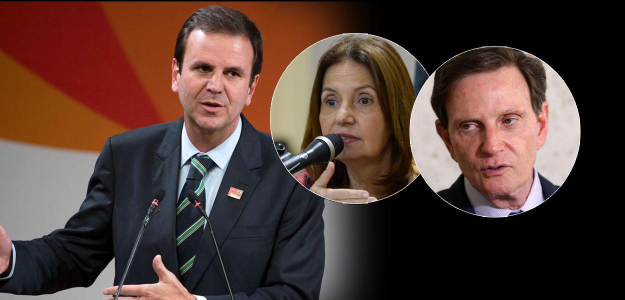Eduardo Paes, Martha Rocha e Marcelo Crivella