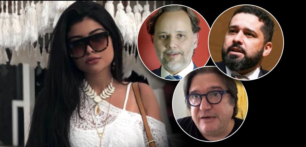 Mariana Ferrer, Marco Aurélio de Carvalho, Pedro Serrano e Fabiano Silva dos Santos