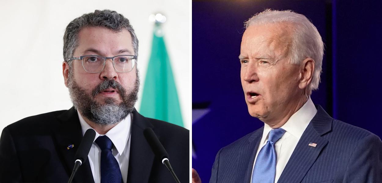 Ernesto Araújo e Joe Biden