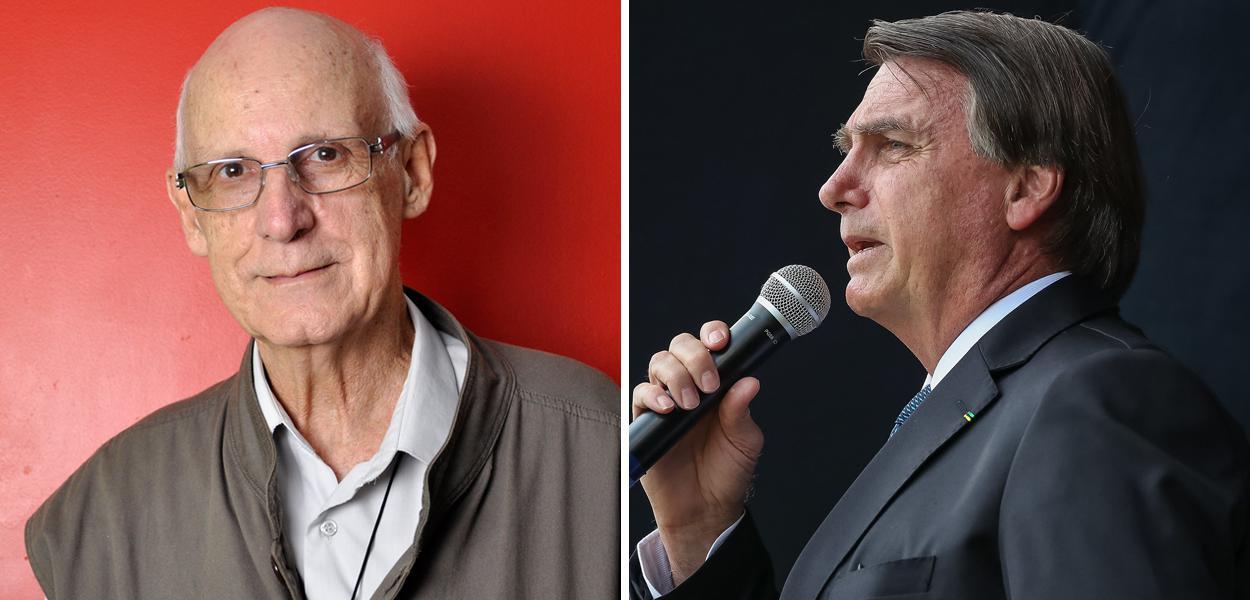 Júlio Lancellotti e Jair Bolsonaro