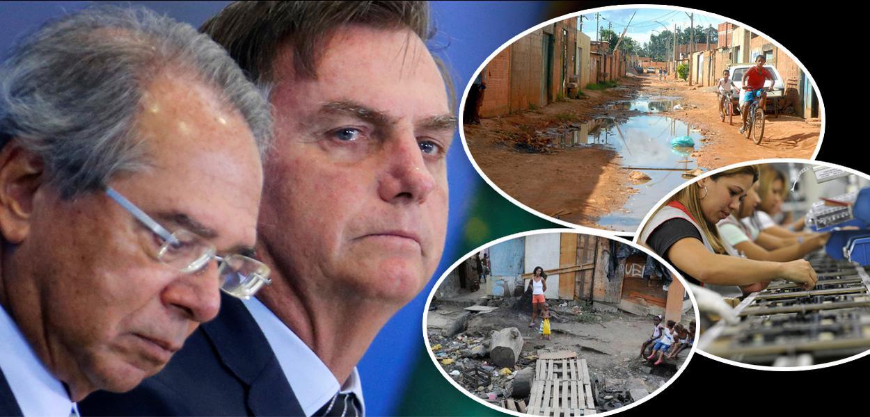 Paulo Guedes, Jair Bolsonaro, cenas de pobreza no Brasil e linha de produção