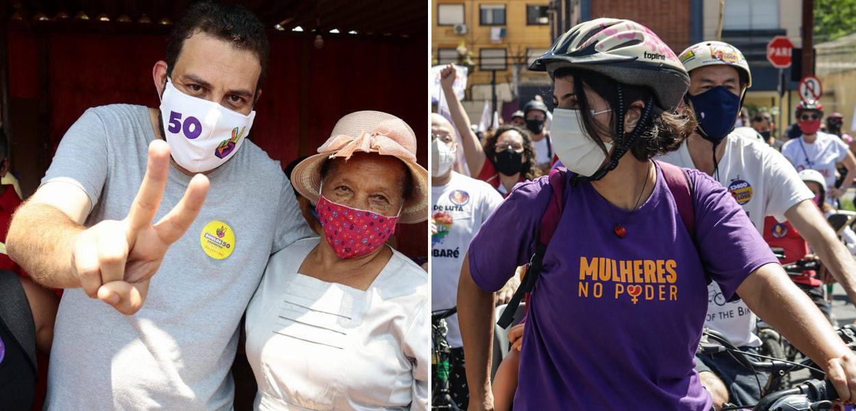 Boulos e Manuela D'Ávila