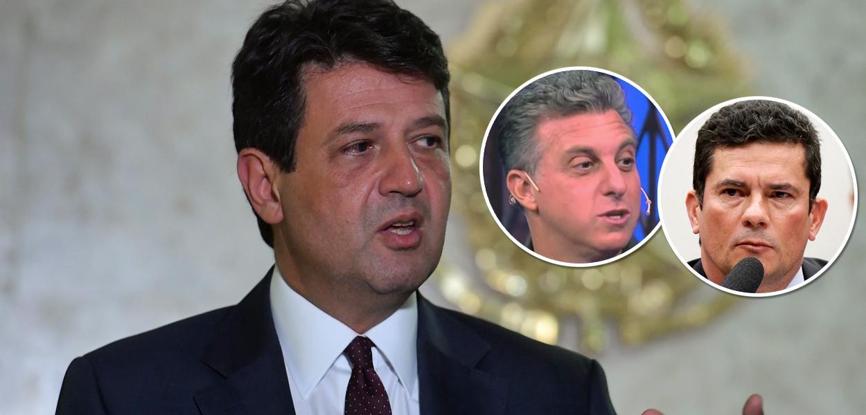 Luiz Henrique Mandetta, Luciano Huck e Sergio Moro