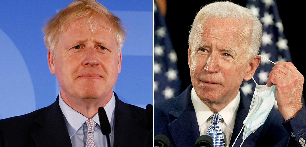 Boris Johnson e Joe Biden