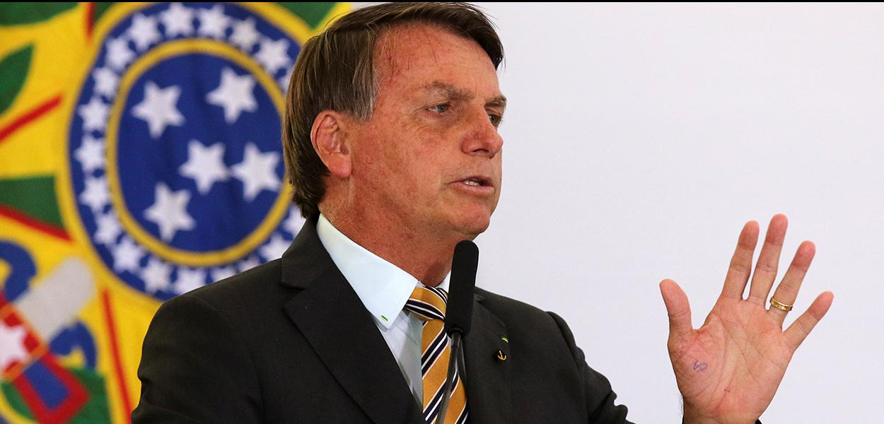 O presidente Jair Bolsonaro, participa do lançamento da retomada do turismo no Palácio do Planalto.  10/11/2020