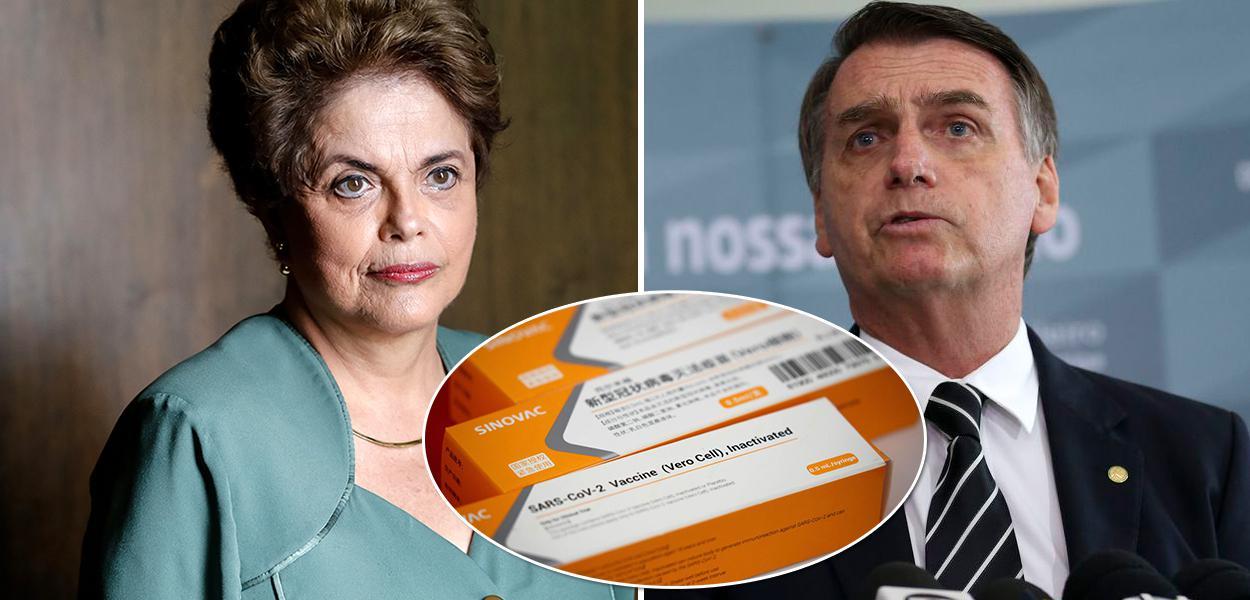 Dilma Rousseff e Jair Bolsonaro | vacina
