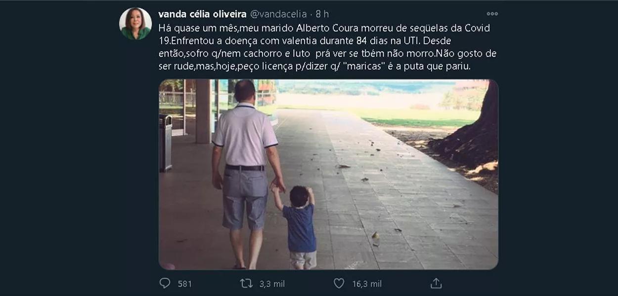 Brasileira que perdeu o marido para a Covid se revolta com discurso de Bolsonaro.