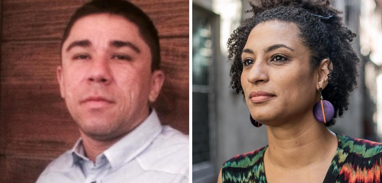 Josinaldo Lucas Freitas, o Djaca, e a ex-vereadora Marielle Franco