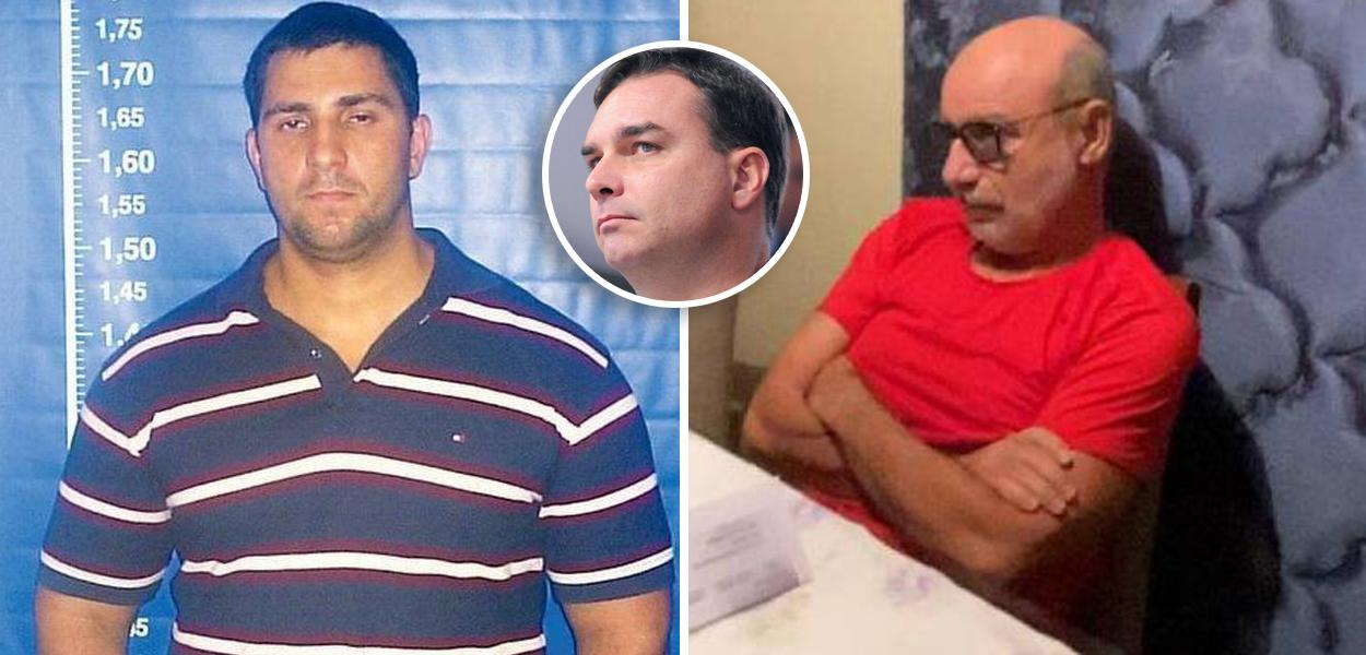 Adriano Magalhães da Nóbrega, Flávio Bolsonaro e Fabricio Queiroz