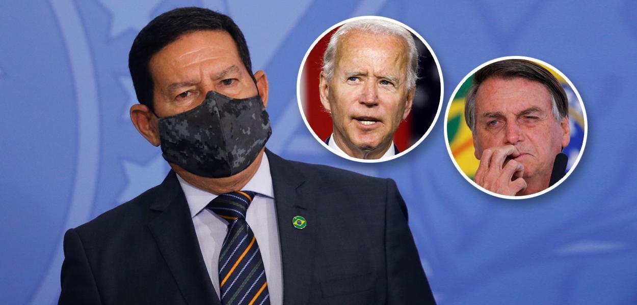 Mourão, Joe Biden e Bolsonaro