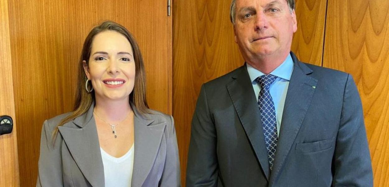 Patrícia Domingos e Jair Bolsonaro