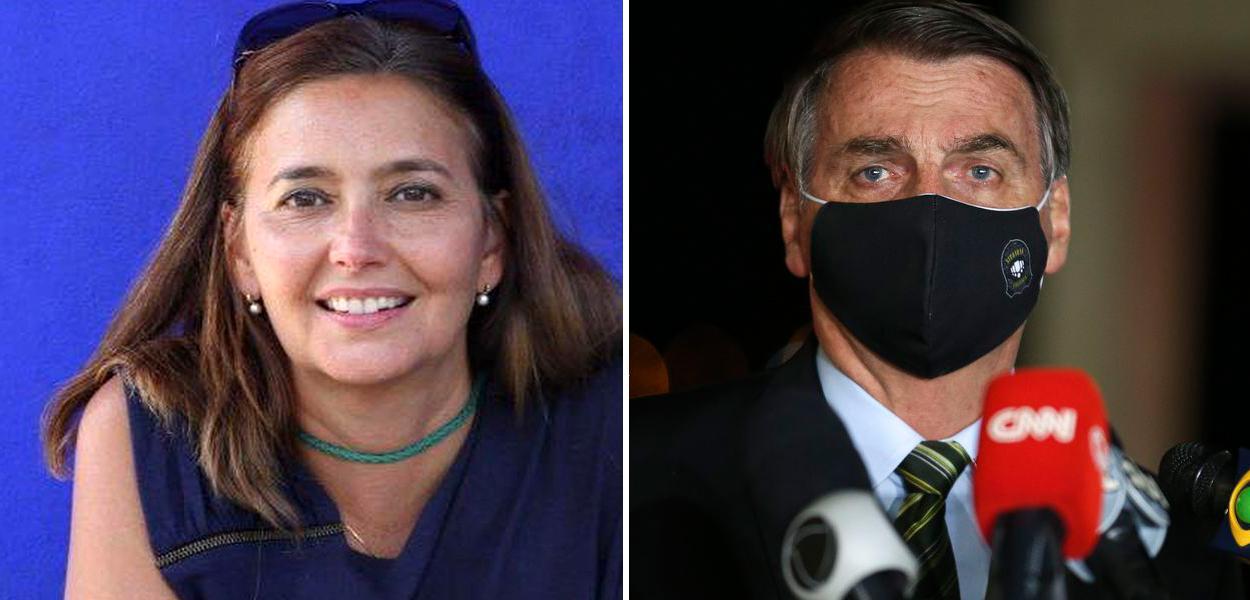 Jornalista Cristina Serra e Jair Bolsonaro