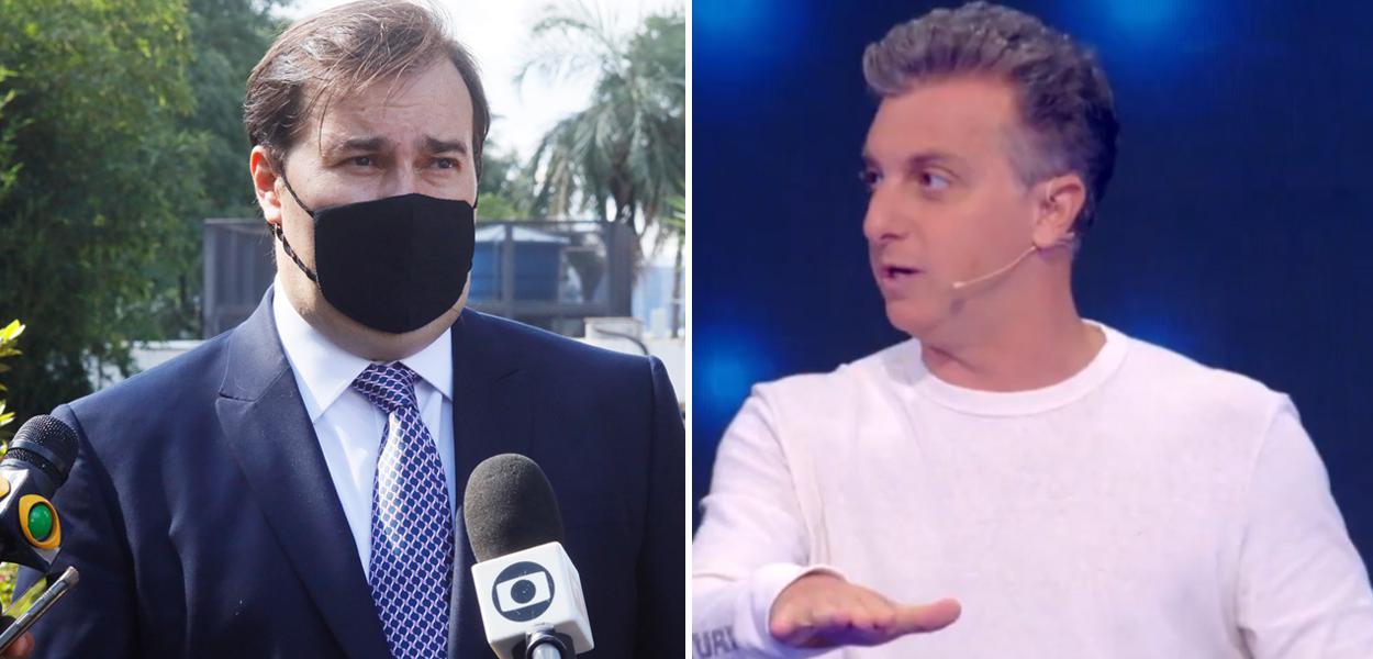 Rodrigo Maia e Luciano Huck