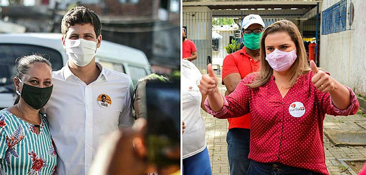 Marília Arraes (PT) e João Campos (PSB) disputarão segundo turno em Recife