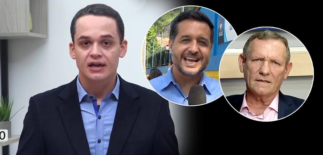 Delegado Pazolini, Gandini e João Coser
