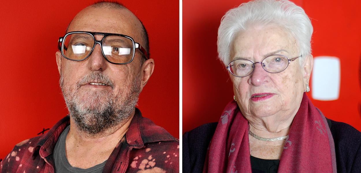Xico Sá e Luiza Erundina