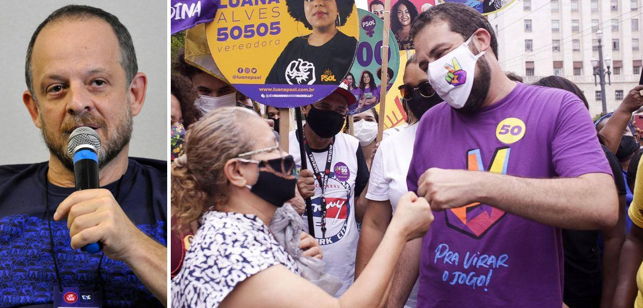 Breno Altman e Guilherme Boulos em campanha