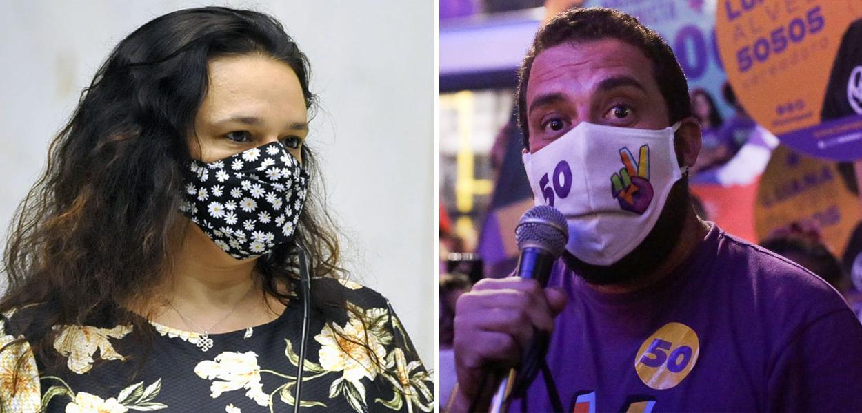 Janaina Paschoal  e Guilherme Boulos