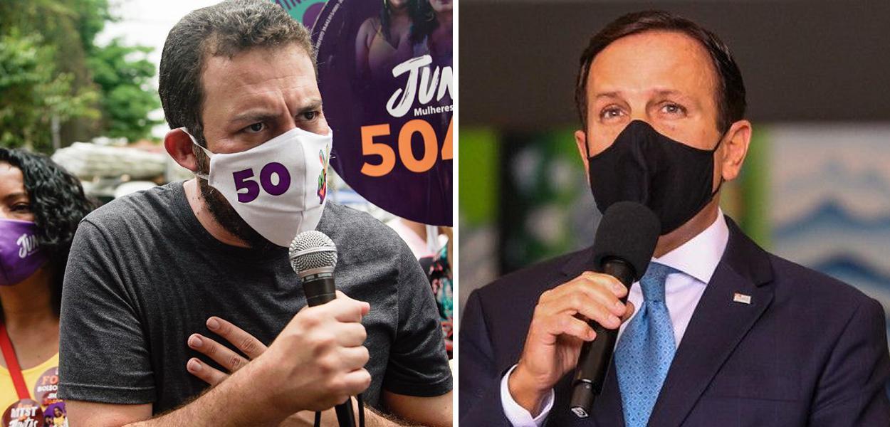 Guilherme Boulos e João Doria