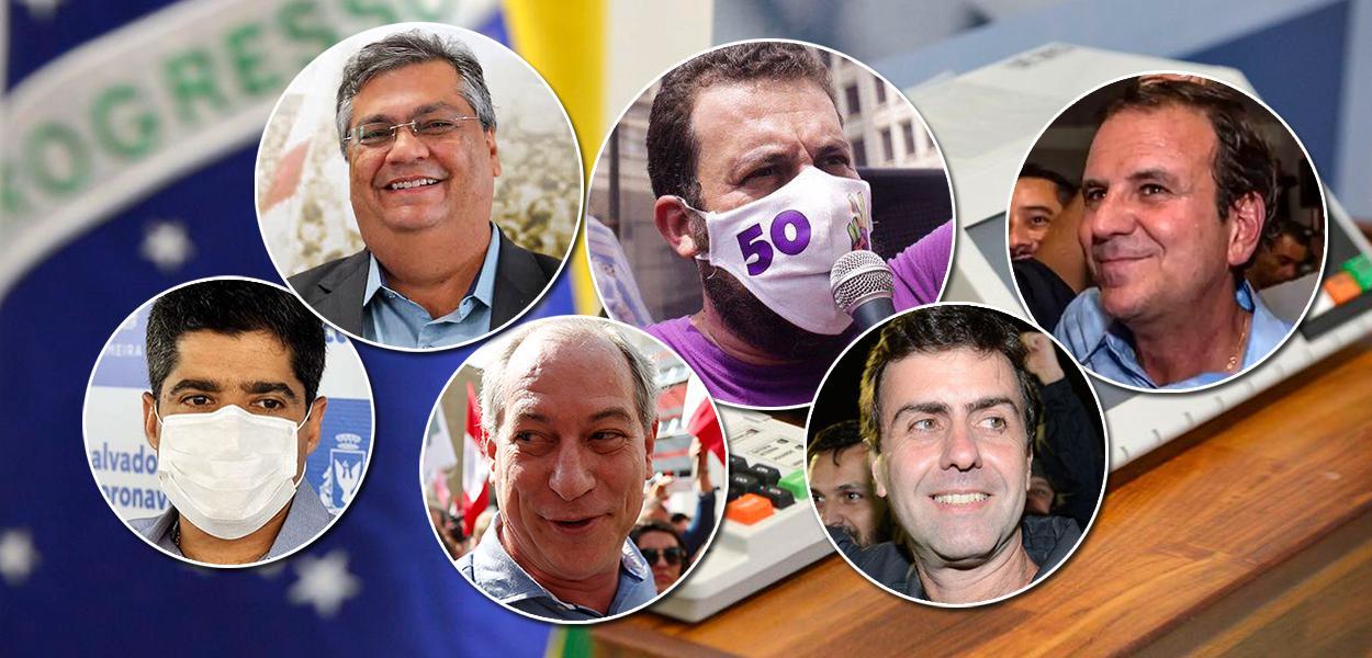 Flávio Dino, Guilherme Boulos, Eduardo Paes, ACM Neto, Ciro Gomes e Marcelo Freixo