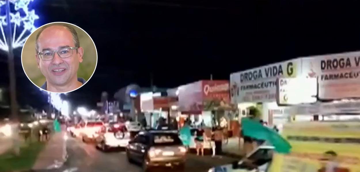 Carreata antecipada do candidato Marcio Luis em Porangatu (GO)