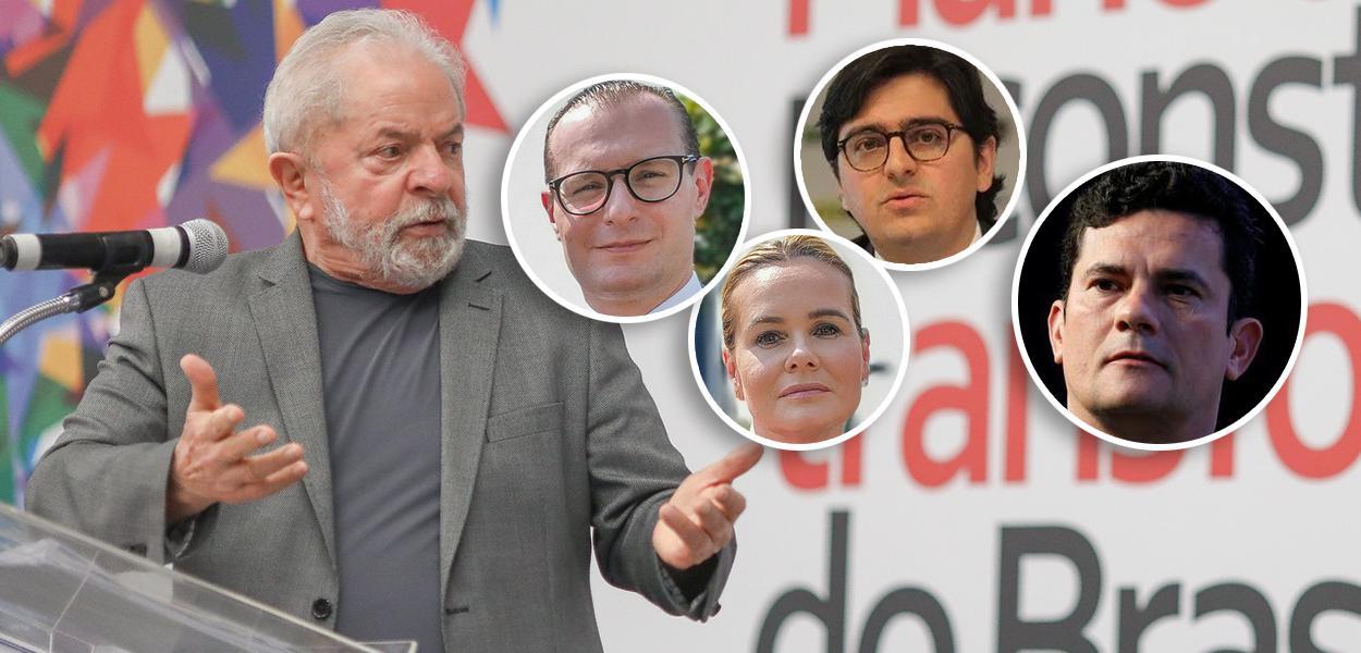 Lula, Cristiano Zanin, Valeska Zanin, Rafael Valim e Sergio Moro