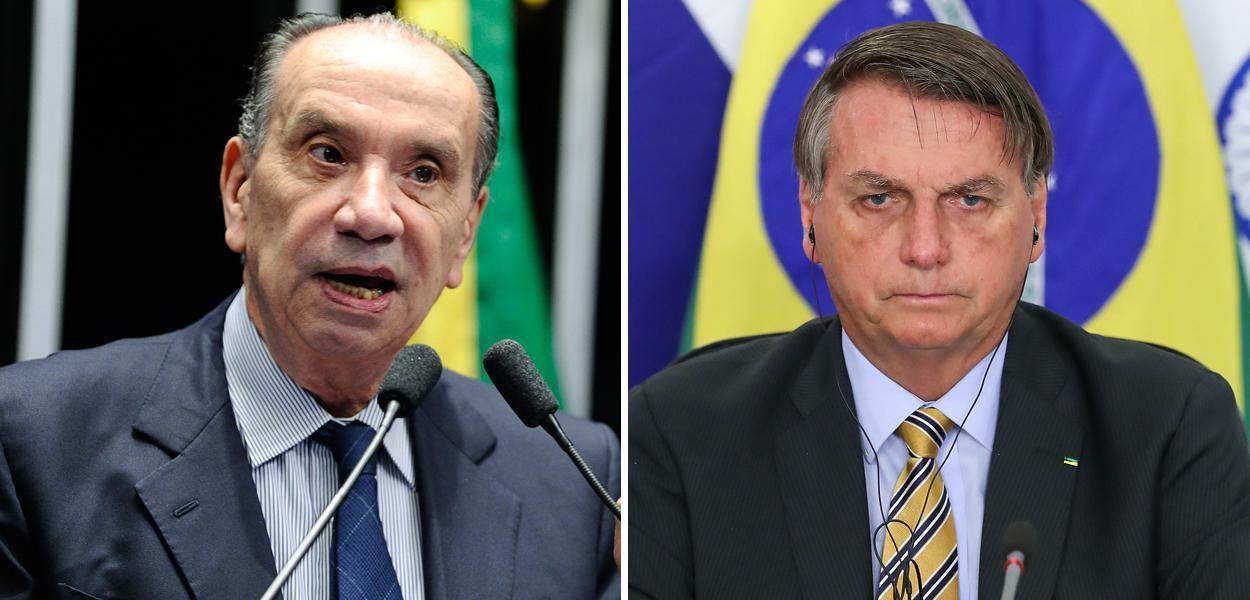 Aloysio Nunes e Jair Bolsonaro