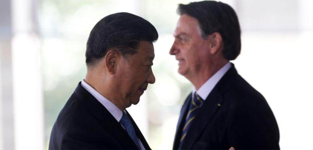 Xi Jinping e Jair Bolsonaro