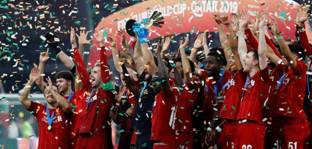 Liverpool comemora título do Mundial de Clubes da Fifa 21/12/2019