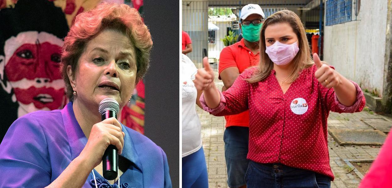 Dilma e Marília Arraes