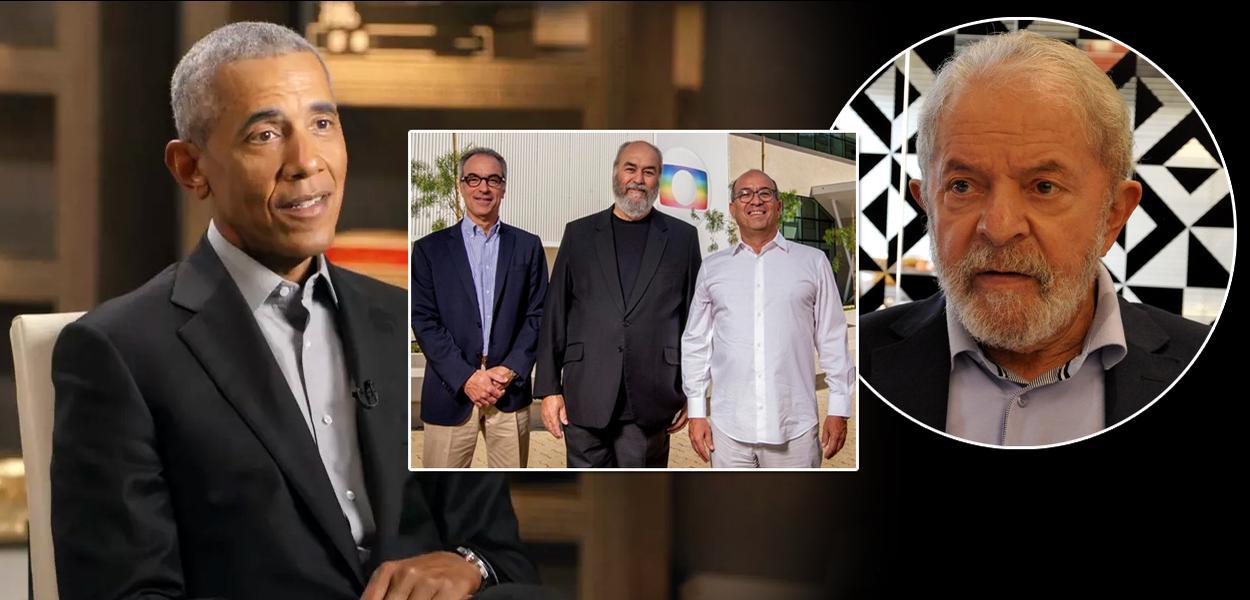 Barack Obama, Família Marinho e o ex-presidente Lula