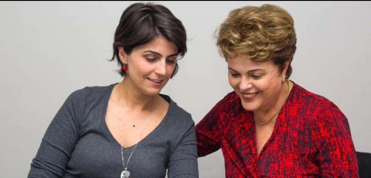 Manuela D'Ávila e Dilma Rousseff.