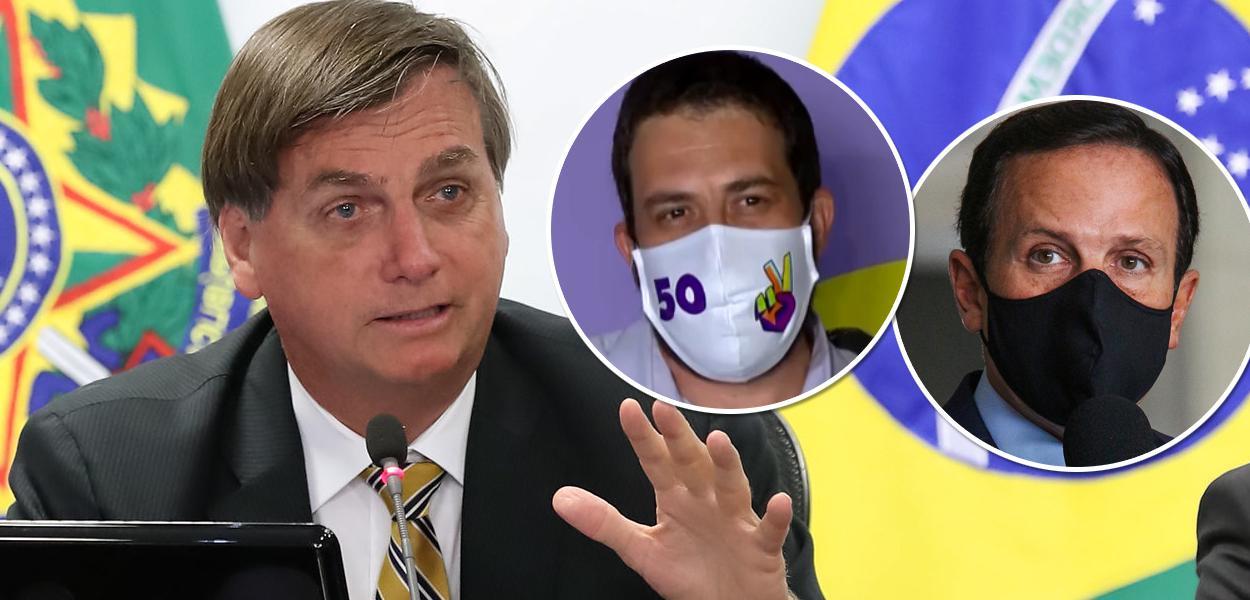 Bolsonaro, Boulos e Doria