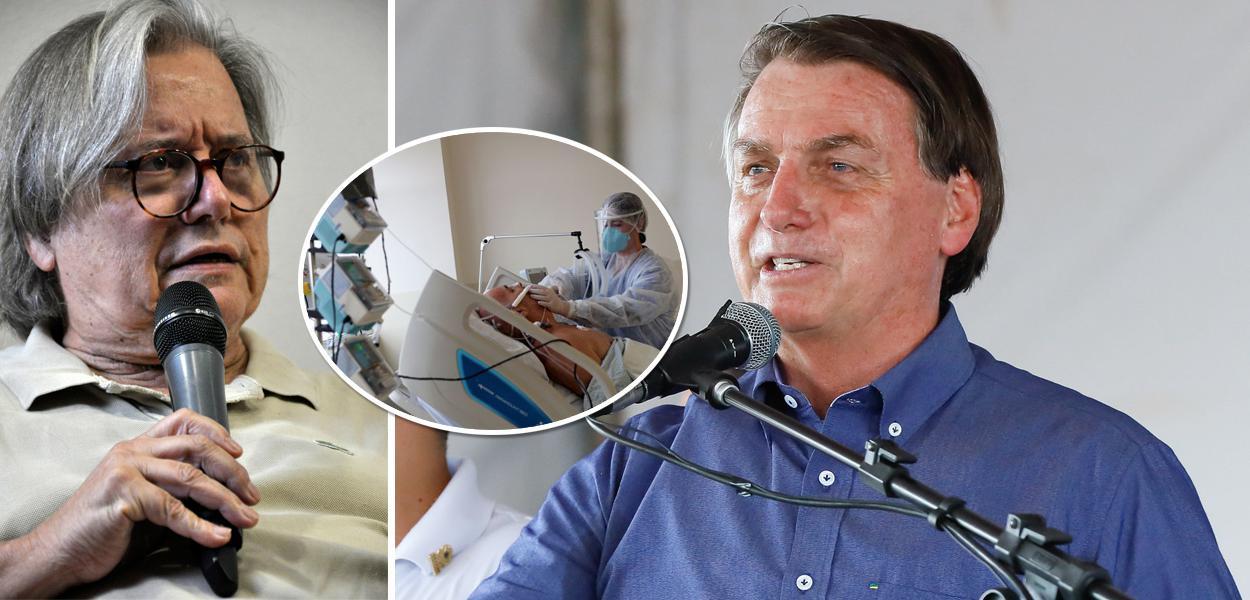 Paulo Moreira Leite, paciente internado por Covid-19 e Bolsonaro