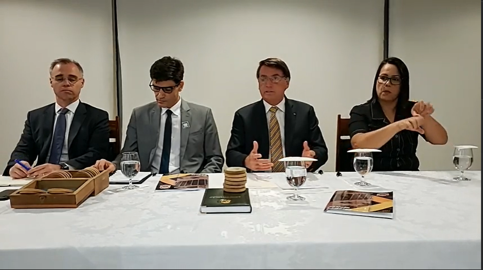 Mendonça, Saraiva e Bolsonaro