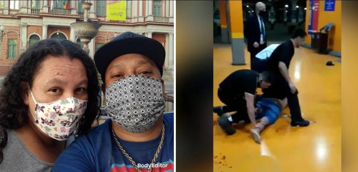 Esposa diz que tentou ajudar João Alberto Silveira Freitas, homem negro assassinado no RS
